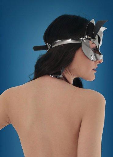 Silver Deri Kedi Kız Fantazi Maske - 0545 356 96 07