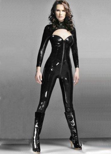 Deri Komple Fermuarlı Seksi Elbise - 160 TL