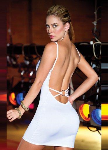 Sırtı Metal Aksesuarlı Beyaz Mini Ebise - 0545 356 96 07