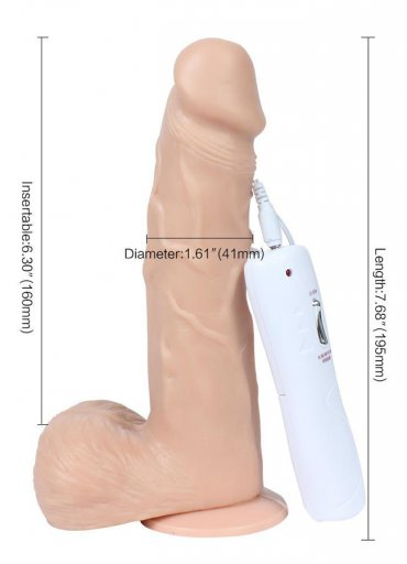 Oynar Başlı Titreşimli 18 Cm Vibratör