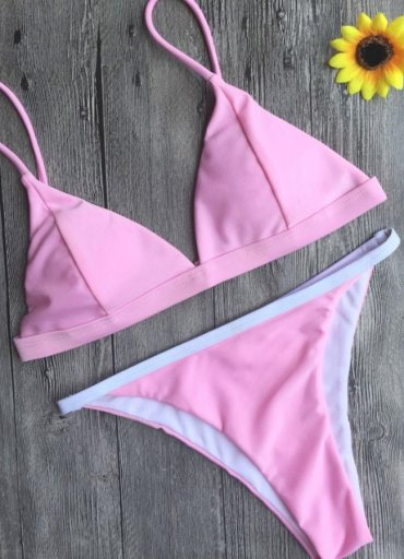 Angelsin Açık Pembe Bikini Takım - 0545 356 96 07