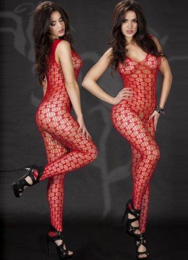 Kırmızı Sexy Vücut Çorabı - 0545 356 96 07