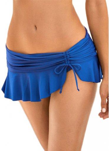 Angelsin Saks Mavi Etekli Bikini - 65 TL