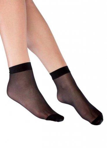 Süper İnce Mat 15 Denye Soket Çorap Siyah - 20 TL