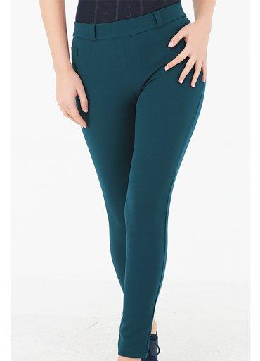 Cep Detaylı Pantolon Tayt Yeşil - 0545 356 96 07