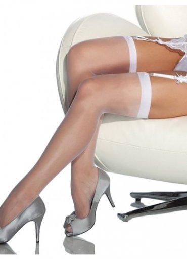Standart Düz Jartiyer Çorabı Beyaz - 0545 356 96 07