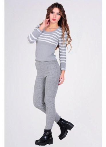 Yüksek Bel Pamuklu Pantalon Tayt
