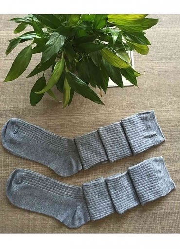 Parfümlü Örgü Diz Üstü Çorap - 0545 356 96 07
