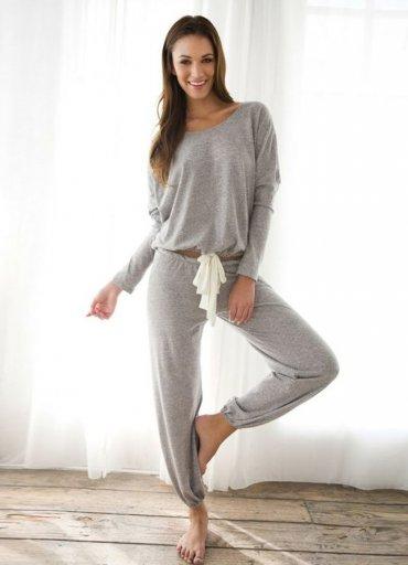 Gri Eşofman Pijama Takım - 0545 356 96 07