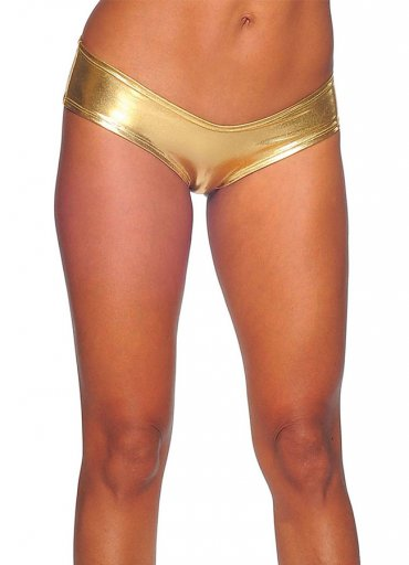 Seksi Deri Külot Gold Fantazi İç Giyim - 0545 356 96 07