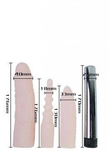 Vibe Tırtıklı Titreşimli Vibrator Set - 0545 356 96 07