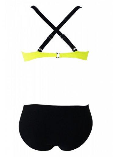 Sarı Siyah Şık Bikini Takım - 115 TL