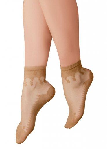 Tabanı Destekli Şeffaf Fit Soket Çorap - 0545 356 96 07