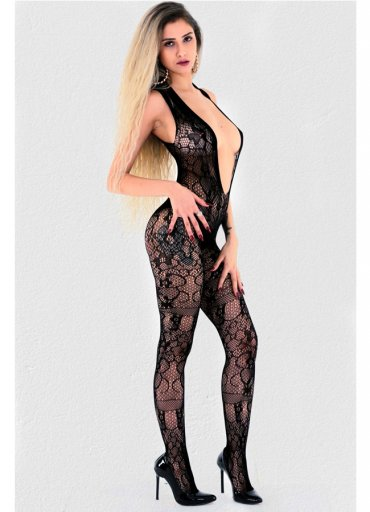 Siyah Vücut Çorabı Fantazi Giyim - 75 TL