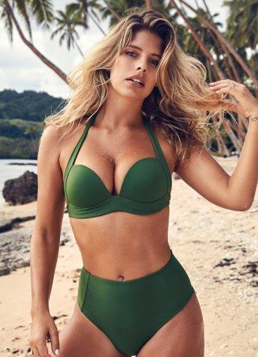 Yeşil Renk Yüksek Bel Bikini - 0545 356 96 07