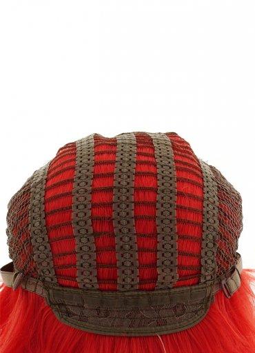 Renkli Kısa Kırmızı Peruk