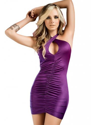 Nokta Shop Sırt Dekolteli Mini Elbise - 0545 356 96 07