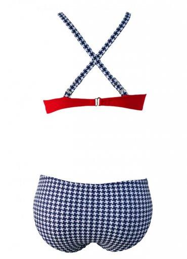 Kırmızı Desenli Bikini Alt - 60 TL