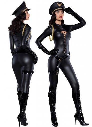 Fantezi Deri Polis Kostümü