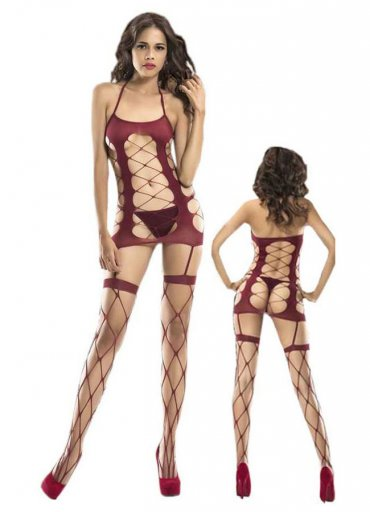 Bordo Vücut Çorabı - 0545 356 96 07