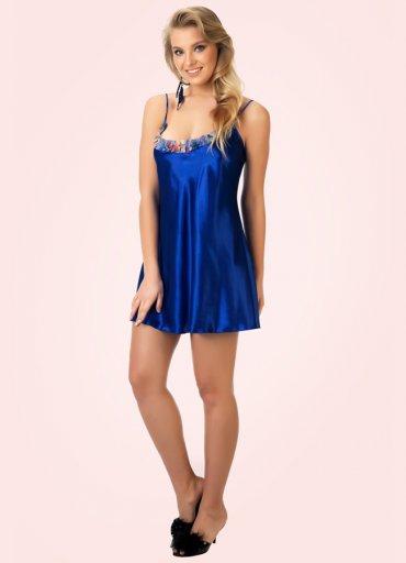 Mavi Sabahlık ve Gecelik Takım Çiçek Desenli - 0545 356 96 07