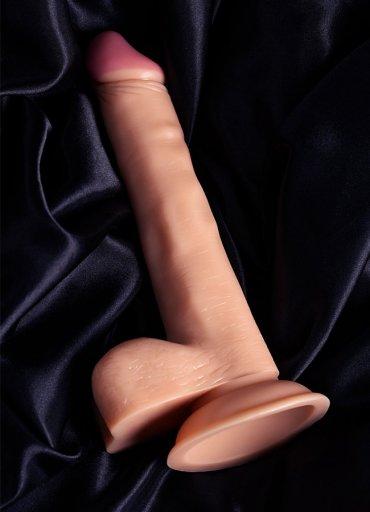 Nokta Shop 19 Cm Realistik Testisli Dildo Penis - 0545 356 96 07
