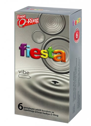 Fiesta Vibe 6lı Prezervatif Titreşimli Halka Hediyeli - 70 TL