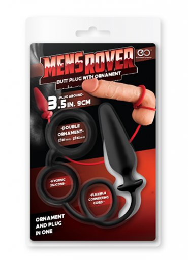 Mens Rover Penis ve Testis Halkalı Anal Plug