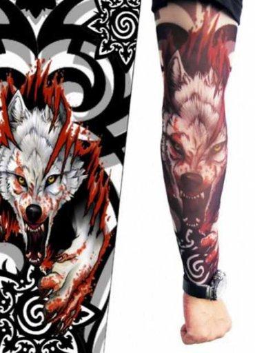 Tattoo Kurt Fügürlü Giyilebilir Dövme - 25 TL