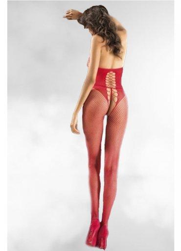 Nokta Shop Kırmızı Vücut Çorabı Seksi İç Giyim