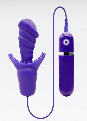 Klitoral Uyarıcılı Silikon Vibratör