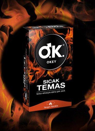 Okey Prezervatif Sıcak Temas 10'lu - 0545 356 96 07