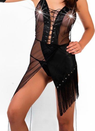 Lame Deri Kovboy Kadın Kostümü - 0545 356 96 07
