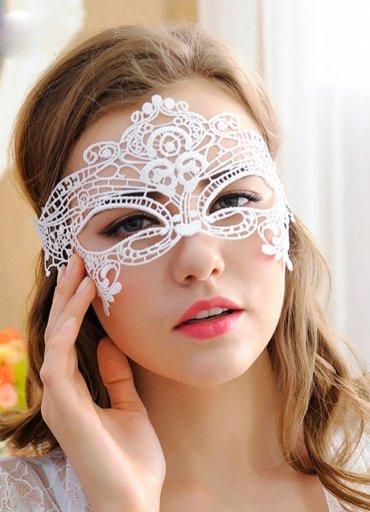 Beyaz Dantel Göz Maskesi