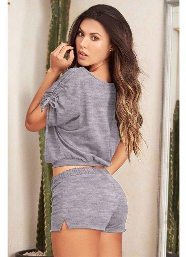 Şortlu Gecelik Pijama Takımı