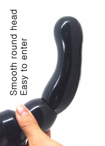 Oval Boğumlu Siyah Anal Plug Tıkaç