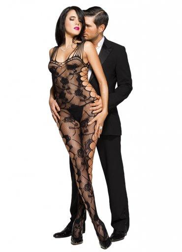 Gül Desenli Fantezi Vücut Çorabı - 75 TL