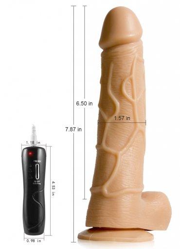 Gerçekçi Vibratör Oynar Başlı Titreşimli 20 Cm
