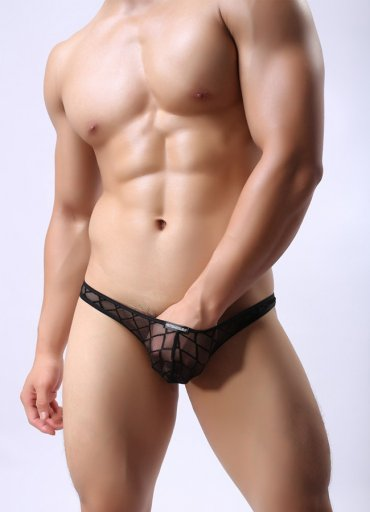 Şeffaf Eşcinsel Ekose Külot Şort - 60 TL
