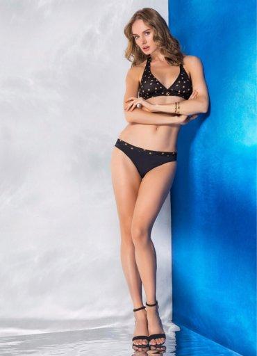 Seksi Tasarım Puantiyeli Siyah Bikini Licia - 0545 356 96 07