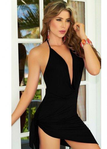Siyah Elbise Sırt Dekolteli Seksi Giyim - 0545 356 96 07