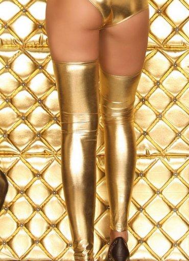 Altın Rengi Parlak Çorap - 0545 356 96 07