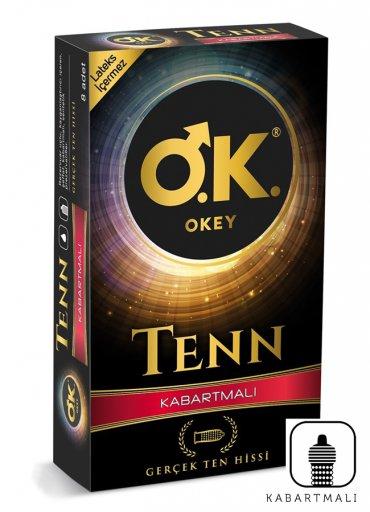 Okey Tenn Kabartmalı Prezervatif 8 li - 0545 356 96 07