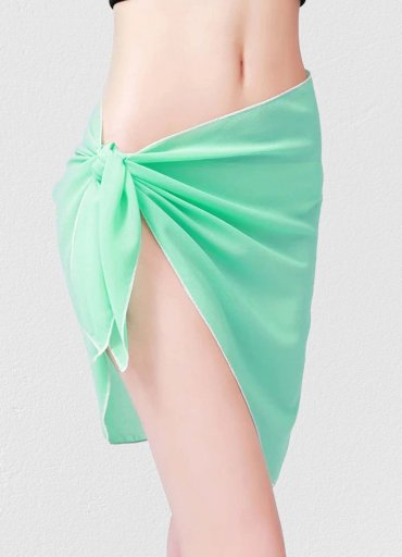 Mint Yeşili Tül Pareo - 0545 356 96 07