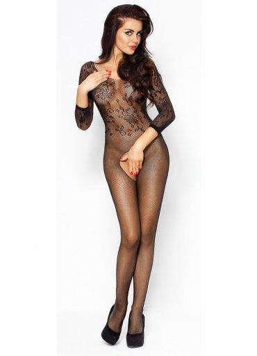 Uzun Kollu Siyah Vücut Çorabı - 0545 356 96 07