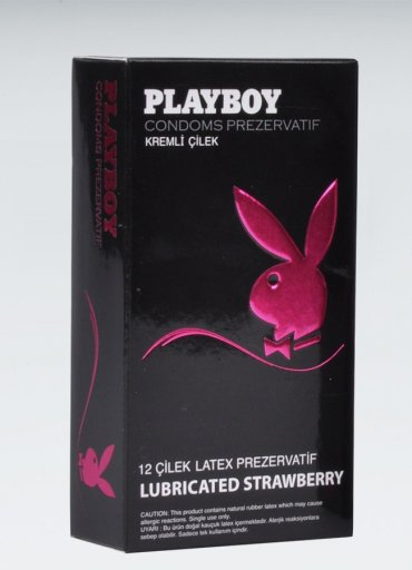 Playboy Strawberry 12 li Çilekli Kremli - 0545 356 96 07