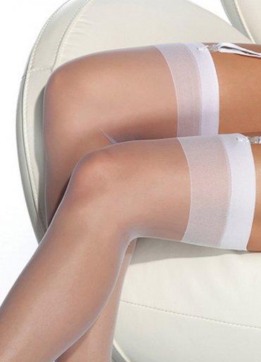Beyaz Dantelsiz Jartiyer Çorabı - 0545 356 96 07