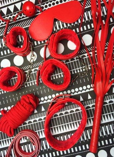 Kırmızı Fetish Fantezi Seri Set - 0545 356 96 07