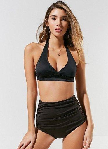 Siyah Yüksek Bel Bikini Takım - 0545 356 96 07
