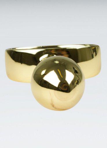 Gold anal plug 10.16 Cm